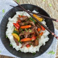 Honey Sriracha Beef Stir Fry