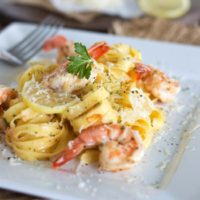 Brown Butter Shrimp Scampi