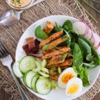 Buffalo Chicken Cobb Salad {with Buffalo Ranch Dressing}