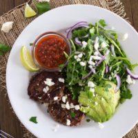 Black Bean Burger Salad {with Cilantro-Lime Vinaigrette}