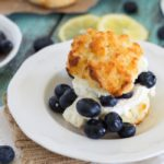 Blueberry Lemon Shortcakes {with Mascarpone Whipped Cream}