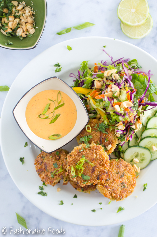 Thai style quinoa cakes with creamy sriracha sauce i like to daydream about owning my own restaurant i have two ideas one is a taco food truck and the other doesnt have a specific concept because im forumfinder Gallery