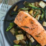 Maple Brown Butter Sheet Pan Salmon and Vegetables {Make Ahead}