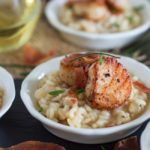 Brown Butter Risotto with Seared Scallops and Crispy Prosciutto