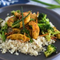 Turmeric Chicken Stir Fry {Whole30}