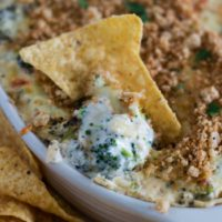 Cheesy Baked Broccoli Dip