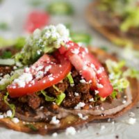 "Vegetarian Cauliflower Taco ""Meat"" Tostadas"