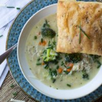 Instant Pot Cheesy Chicken and Broccoli Pot Pie