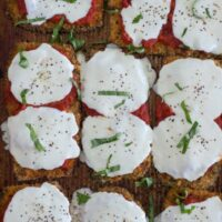 Easy Sheet Pan Eggplant Parmesan