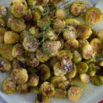 Roasted Brussels Sprouts with Parmesan and Rosemary
